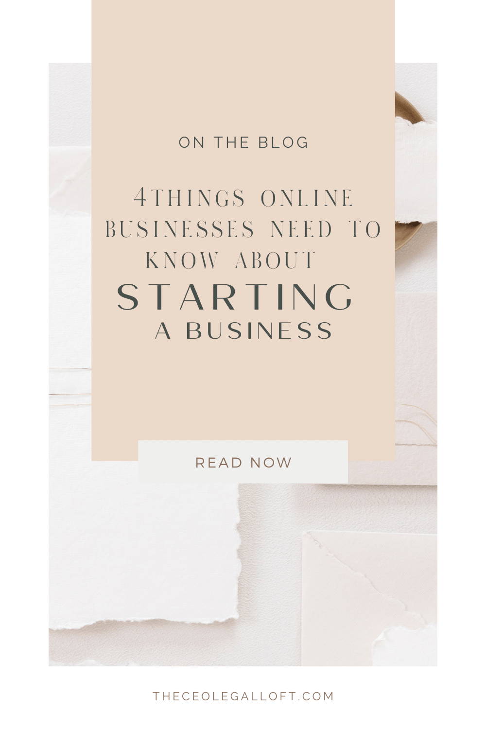 Pin for how to start a business