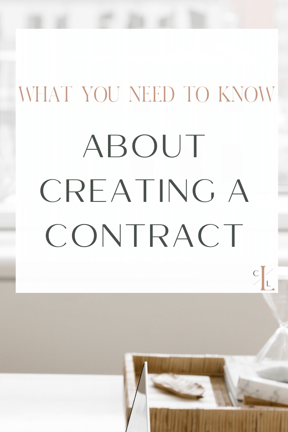 Pin for blog about creating contracts