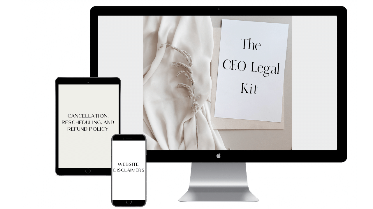 Legal Guide for Small Business Owners - The CEO Legal Kit mockup by The CEO Legal Loft