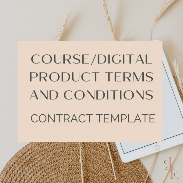 Preview of online course terms and conditions